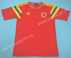 1990 Retro Version  Colombia Home Red Thailand Soccer Jersey