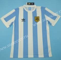 1978 Retro Version Argentina Home Blue and White Thailand Soccer Jersey AAA