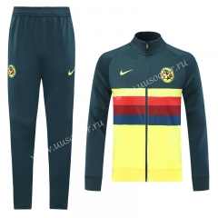 Player Version 2020-2021 Club América Yellow Soccer Jacket Uniform-LH