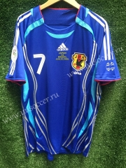 2006 Retro Version Japan Blue Thailand Soccer Jersey AAA (not including the name and number)