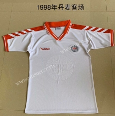 1988 Retro Version Denmark White Thailand Soccer Jersey AAA