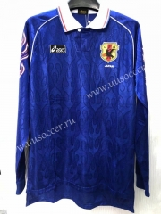 Retro Version Japan Home Blue LS Thailand Soccer Jersey AAA