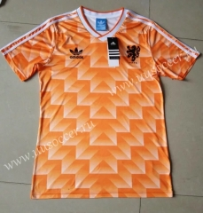 1998 Retro Version Netherlands Home Orange Thailand Soccer Jersey AAA