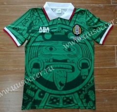 Retro Version 1998 Mexico Green Thailand Soccer Jersey AAA-912