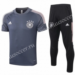 2020-2021 Germany Dark Gray Thailand Polo Uniform-815