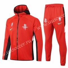2020-2021 NBA Houston Rockets Red With Hat Jacket Uniform-815
