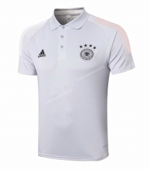 2020-2021 Germany Light Gray Thailand Polo shirts-815