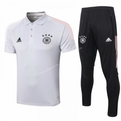 2020-2021 Germany Light Gray Thailand Polo Uniform-815