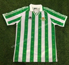 1995-1997 Retro Version Real Betis Home White and Green Thailand Soccer Jersey AAA-503