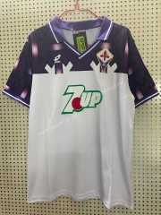 1992-1993 Retro Version  Fiorentina Away White Thailand Soccer Jersey AAA-811