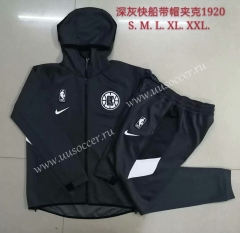 2020-2021 Los Angeles Clippers Black Thailand Soccer Jacket Uniform With Hat
