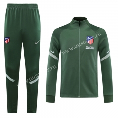 2020-2021 Atletico Madrid Dark GreenThailand Soccer Jacket Uniform-LH