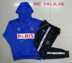 With Adv 2020-2021 Jordan Paris SG Blue Thailand Soccer Tracksuit Uniform With Hat-815