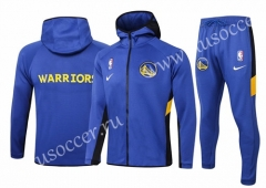 2020-2021 Golden State Warriors Blue Thailand Soccer Jacket Uniform With Hat-815
