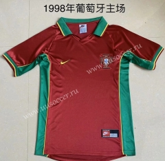 1998 Retro Version Portugal Home Red Thailand Soccer Jersey AAA-709