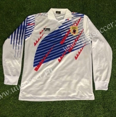 1994 Retro Version Japan White LS Thailand Soccer Jersey AAA-503