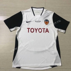 2003-2004 Retro Version Valencia Home White With black logo Thailand Soccer Jersey AAA-503
