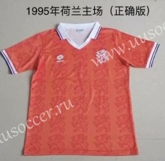 1995 Retro Version Netherlands Home Orange Thailand Soccer Jersey AAA