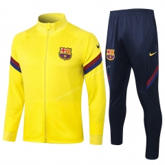 2020-2021 Barcelona Yellow Thailand Soccer Jacket Uniform-815