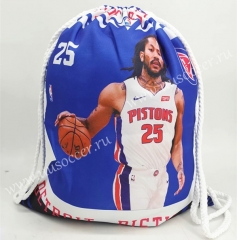 2020-2021 Detroit Pistons Blue Basketball Bag