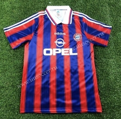 1995-1997 Retro Version Bayern München Home Blue & Red Thailand Soccer Jersey AAA-503