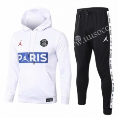 With Adv 2020-2021 Jordan Paris SG White Thailand Soccer Tracksuit Uniform With Hat-815
