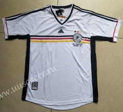 1998 Retro Version Germany White Thailand Soccer Jersey-912