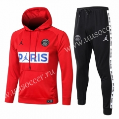 With Adv 2020-2021 Jordan Paris SG Red Thailand Soccer Tracksuit Uniform With Hat-815