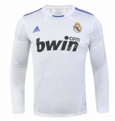 2010-2011 Retro version Real Madrid Home White LS Thailand Soccer Jersey AAA-SL