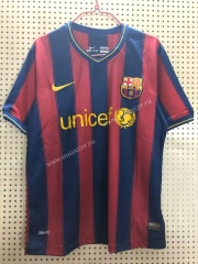 90-10 Retro Version Barcelona Home Red & Blue Thailand Soccer Jersey AAA-811
