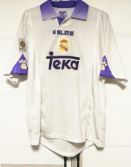 97-98 UEFA Champions League Version Real Madrid White Thailand Soccer Jersey AAA-503