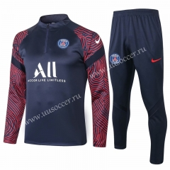 2020-2021 Paris SG Royal Blue Thailand Soccer Tracksuit Uniform-815
