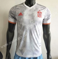 Player Version 2020 European Cup Spain Away White Thailand Soccer Jersey AAA-506