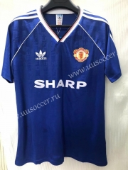 1990-1992 Retro Version Manchester United Blue Thailand Soccer Jersey AAA-811
