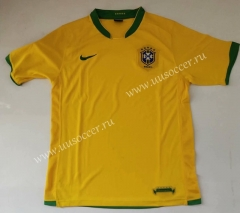 2006 Retro Brazil Home Yellow Thailand Soccer Jersey AAA-912