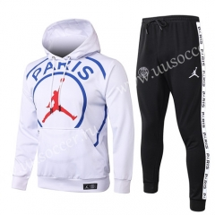 Big logo 2020-2021 Jordan Paris SG White Thailand Soccer Tracksuit Uniform With Hat-815