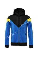Without Logo 2020-2021 Blue & Black Soccer Thailand Jacket With Hat -815 -815
