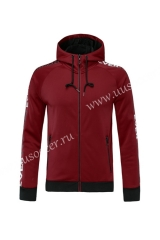 Without  Logo 2020-2021 Dark Red Soccer Thailand Jacket-815