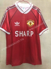 1990-1992 Retro Version Manchester United Home Red Thailand Soccer Jersey AAA-811