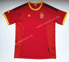 2002 Retro version Spain Red Thailand Soccer Jersey AAA-912
