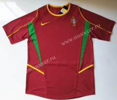 2002 Retro Version Portugal Home Red Thailand Soccer Jersey AAA-912