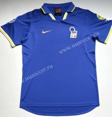 1996-1998 Retro Version  Italy Home Blue Thailand Soccer Jersey AAA-912