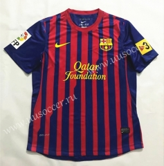 2011-2012 Retro Version Barcelona Home Red & Blue Thailand Soccer Jersey AAA-SL