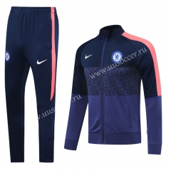 2020-2021 Chelsea Royal Blue  Soccer Thailand Jacket Uniform-815