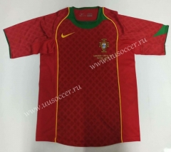 2004 Retro Version Portugal Home Red Thailand Soccer Jersey AAA