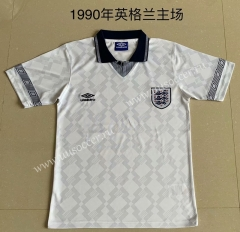 1990 Retro Version England Home White Thailand Soccer Jersey AAA