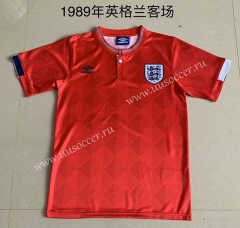1989 Retro Version England Away Red Thailand Soccer Jersey AAA