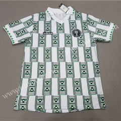 1994 Retro Version Nigeria White Soccer Thailand jersey