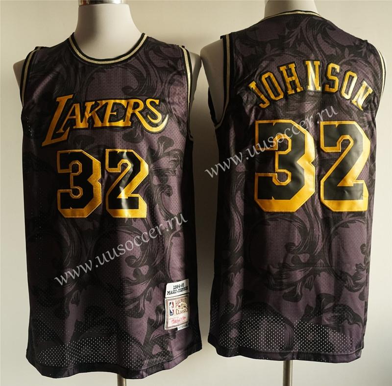 NBA Los Angeles Lakers Black Mesh printing #32 Jersey,Los Angeles ...