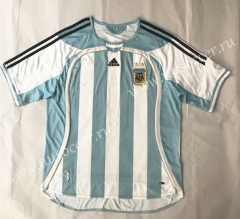 2006  Retro Version Argentina Home White Thailand Soccer Jersey AAA-SL